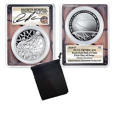 Dennis Rodman  Signed PR70 LE Basketball Hall of Fame Silver Dollar