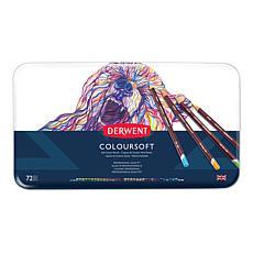 DERWENT Coloursoft 72-piece Colored Pencil Set