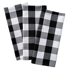 Design Imports 3-pack Buffalo Check Kitchen Towels