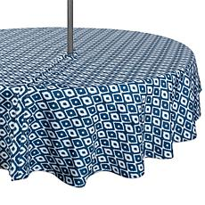 """Design Imports 60"""" IKAT Round Outdoor Tablecloth with Zipper"""