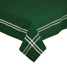"Design Imports Balsam Border Stripe Tablecloth - 60"" x 120"""