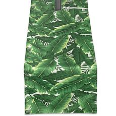 "Design Imports Banana Leaf Outdoor Table Runner w/Zipper - 14"" x 108"""