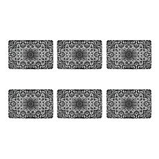 Design Imports Black Lace Vinyl Placemats Set of 6