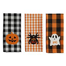 Design Imports Boo! Embellished Kitchen Towel Set of 3