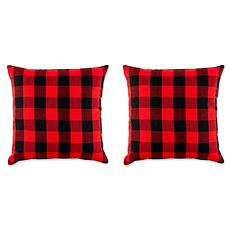 Design Imports Buffalo Check Pillow Covers Set of 2