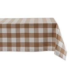 "Design Imports Buffalo Check Tablecloth - 60"" x 104"""