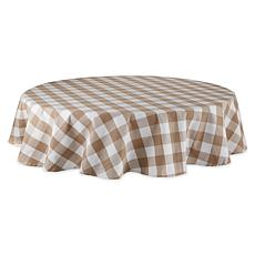 "Design Imports Buffalo Check Tablecloth - 70"" Round"