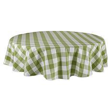 "Design Imports Buffalo Check Tablecloth - 70"" Round"