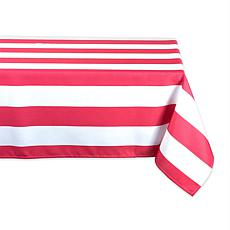 "Design Imports Cabana Stripe Outdoor Tablecloth - 60"" x 120"""