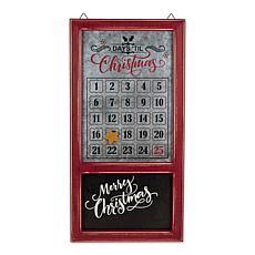 Design Imports Chalkboard Galvanized Days Til Christmas Calendar