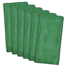 Design Imports Christmas Holiday Trees Napkin Set of 6