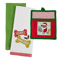 Design Imports Christmas Pup Holiday Gift Set of 3