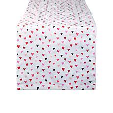"Design Imports Confetti Hearts Print Table Runner - 14"" x 72"""