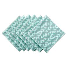 Design Imports Diamond Print Outdoor Napkin Set of 6