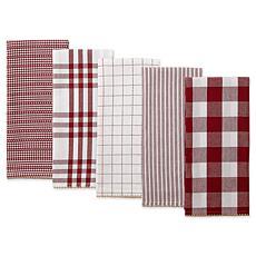 Design Imports Farmhouse Woven Kitchen Towel 5-pack