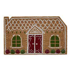Design Imports Gingerbread House Doormat