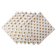 Design Imports Gold Skull Printed Napkins Set of 6