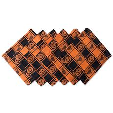 Design Imports Halloween Woven Check Napkins Set of 6