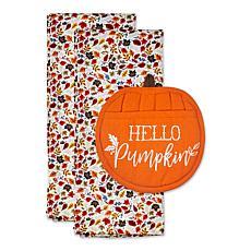 Design Imports Hello Pumpkin Potholder Gift Set