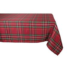 "Design Imports Holiday Metallic Plaid Tablecloth 60"" x 84"""