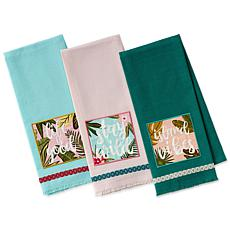 Design Imports Island Tropics Kitchen Towels 3-pack