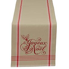 "Design Imports Joyeux Noel Christmas Reversible Table Runner 14"" x 72"""
