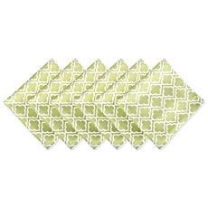 Design Imports Lattice Print Outdoor Napkin Set of 6
