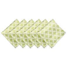 Design Imports Lattice Print Outdoor Napkin Set of 6