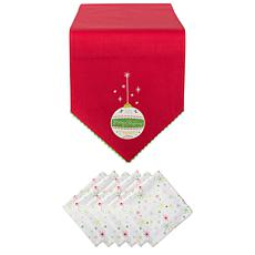 Design Imports Merry Christmas Ornament Embellished Table Set