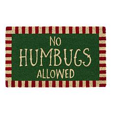 Design Imports No Humbugs Doormat