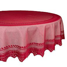Design Imports Nordic Lace Tablecloth 70-inch Round