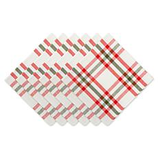 Design Imports Nutcracker Plaid Napkin Set of 6