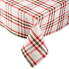 Design Imports Nutcracker Plaid Tablecloth - 60 x 84""