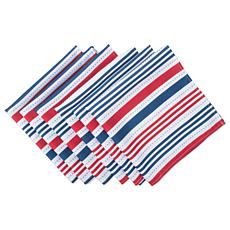 Design Imports Patriotic Stripe Outdoor Napkin Set of 6
