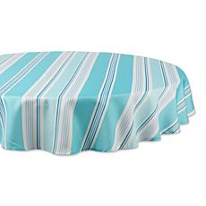 """Design Imports Print Outdoor Tablecloth - 60"""" Round"""