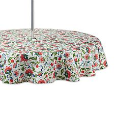 """Design Imports Print Outdoor Tablecloth with Zipper - 60"""" Round"""