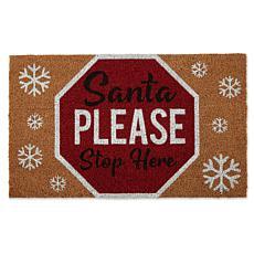 Design Imports Santa Please Stop Sign Doormat
