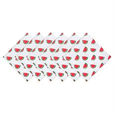 Design Imports Set of 6 Watermelon Print Outdoor Napkins