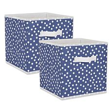 "Design Imports Small Dots 11"" Storage Cube 2-pack"