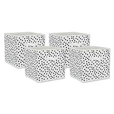 """Design Imports Small Dots 11"""" Storage Cube 4-pack"""