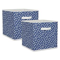 "Design Imports Small Dots 13"" Storage Cube 2-pack"