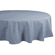"""Design Imports Solid Chambray 70"""" Round Tablecloth"""