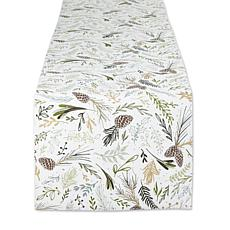 """Design Imports Sparkle Sprigs Table Runner - 14"""" x 72"""""""