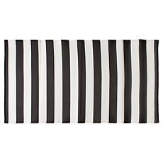 Design Imports Stripe Outdoor Floor Runner 3' x 6'
