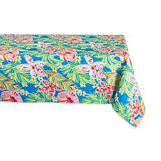 """Design Imports Summer Floral Outdoor Tablecloth - 60"""" x 84"""""""