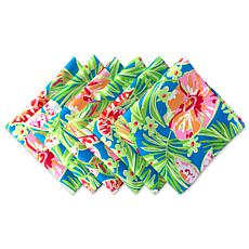 Design Imports Summer Floral Print Outdoor Napkin Set of 6