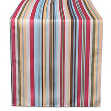 "Design Imports Summer Stripe Outdoor Table Runner - 14"" x 108"""