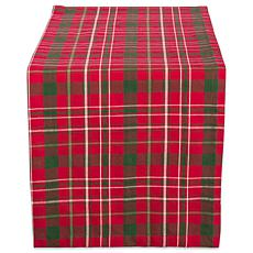 "Design Imports Tartan Holiday Plaid Table Runner - 14"" x 108"""