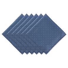 Design Imports Tonal Lattice 6-piece Cloth Outdoor Napkins