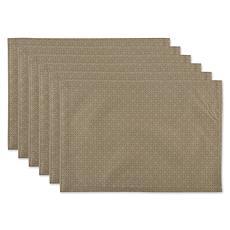Design Imports Tonal Lattice 6-piece Outdoor Placemats